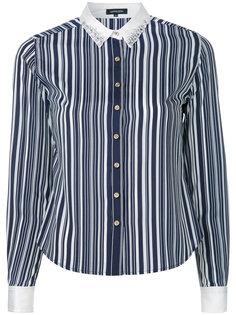 полосатая рубашка с декорированным воротником Loveless