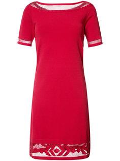 платье-миди с прозрачными вставками D.Exterior