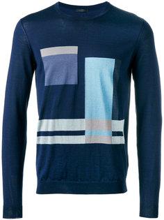 свитер с геометрическим принтом  Pal Zileri