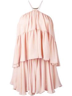расклешенное платье с вырезом-халтер Plein Sud