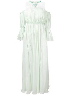 платье с пышными рукавами и ожерельем Giambattista Valli