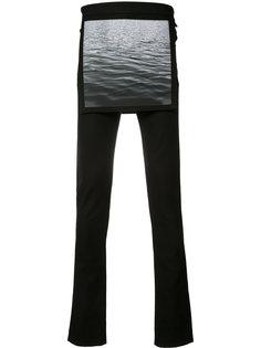 многослойные зауженные брюки с изображением волн Raf Simons X Robert Mapplethorpe Raf Simons