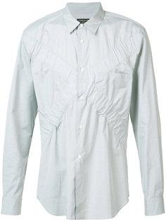 рубашка с присборенными деталями X Comme Des Garçons Homme Plus