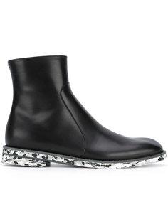 ботинки с раскрашенной подошвой Maison Margiela