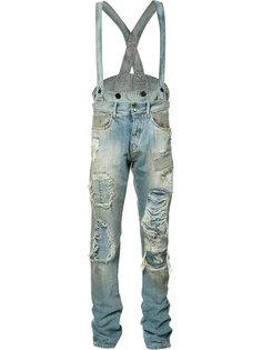 джинсовый комбинезон с эффектом поношенности Faith Connexion