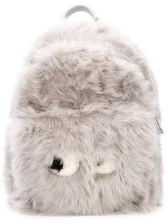 рюкзак с мехом и декором в виде лица Anya Hindmarch