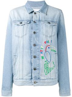 джинсовая куртка с аппликацией Hama bead Mira Mikati