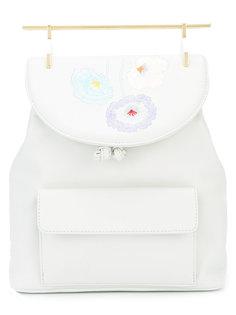 рюкзак с цветами на верхнем клапане  M2malletier