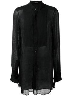 прозрачная удлиненная рубашка Ann Demeulemeester