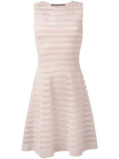 полупрозрачное платье с расклешенной юбкой Antonino Valenti