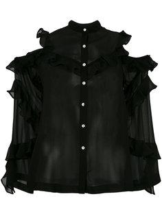 рубашка с открытыми плечами и оборками Robert Rodriguez