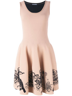 платье с вышивкой морских обитателей Alexander McQueen