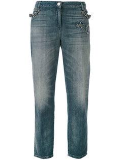 зауженные декорированные джинсы Twin-Set