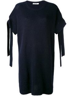 платье с завязками на рукавах Jil Sander