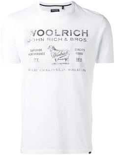 футболка с логотипом Woolrich