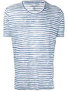 футболка в полоску с круглым вырезом  Majestic Filatures