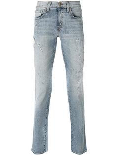 джинсы с высветленным дизайном J Brand