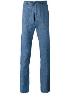 джинсовые брюки на шнурке Lardini
