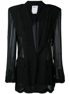 прозрачный блейзер DKNY
