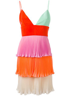 tiered mini pleat dress Fausto Puglisi