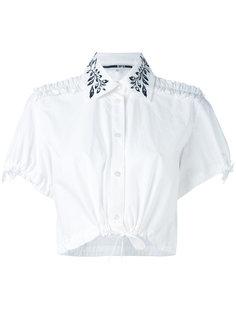 укороченная блузка с вышивкой McQ Alexander McQueen