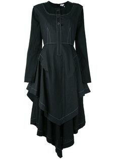 платье с контрастной строчкой Loewe