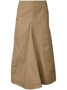 длинная расклешенная юбка  Lemaire