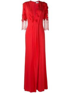 lace detail long gown Blumarine
