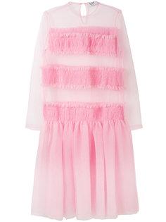 платье с полупрозрачными вставками  Anna K