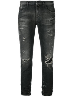 укороченные состаренные джинсы  Faith Connexion
