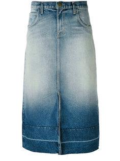 джинсовая юбка-миди Current/Elliott