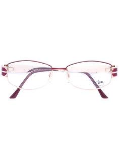 очки с эмалированной круглой оправой Cazal