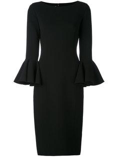 платье миди с рукавами-колокол Michael Kors
