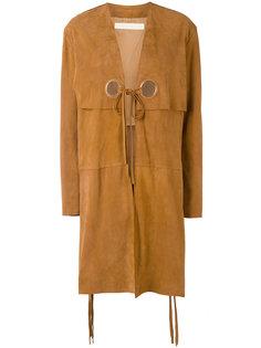 пальто с люверсами Drome