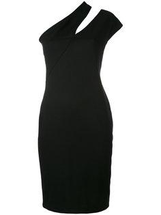 приталенное платье с декоративной прорезью Mugler
