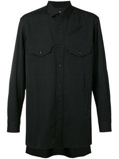 однотонная рубашка Yohji Yamamoto