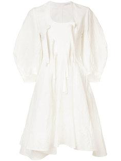 расклешенное платье с завязками J.W.Anderson