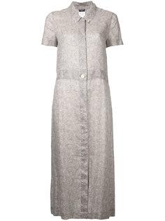 цельное платье с короткими рукавами из рами Chanel Vintage