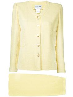 твидовый костюм-двойка с юбкой Chanel Vintage
