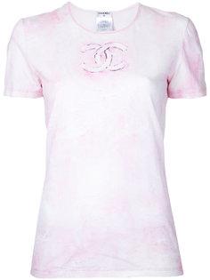 футболка с короткими рукавами с логотипом Chanel Vintage