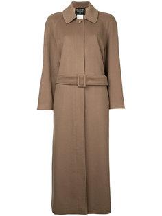 винтажное пальто с длинными рукавами с логотипом СС Chanel Vintage