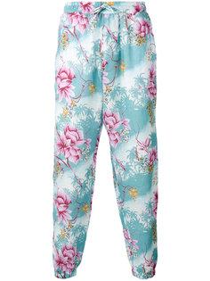 брюки с растительным принтом Etro
