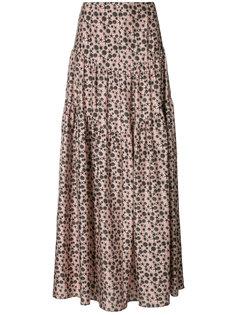 юбка-макси с цветочным принтом Hellessy