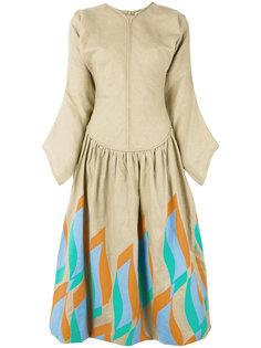 расклешенное платье миди J.W.Anderson