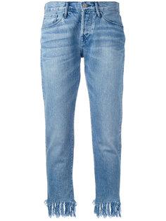 джинсы с бахромой 3X1