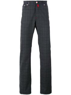 клетчатые брюки-чинос Kiton