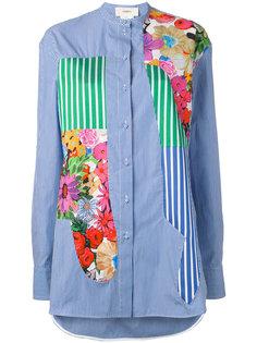 полосатая рубашка с цветочными принтами Ports 1961