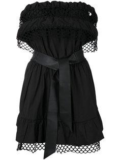 платье с сетчатой отделкой Federica Tosi