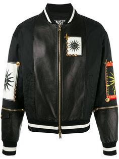 куртка-бомбер с нашивками Fausto Puglisi