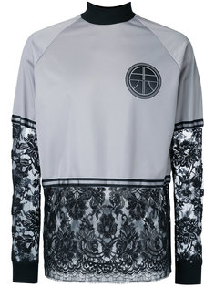 lace patch crewneck top Astrid Andersen